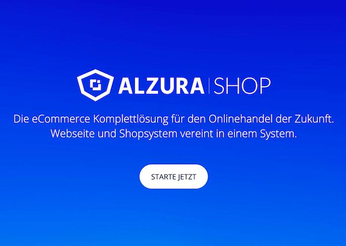 ALZURA Shop: Website & Onlineshop für 19 € p. Monat